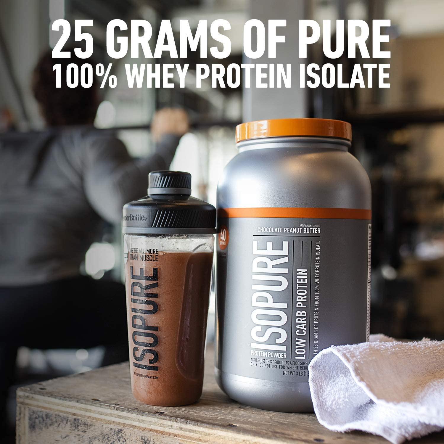 Isopure Low Carb, Vitamin C and Zinc for Immune Support, 25g Protein, Keto Friendly Protein Powder, 100% Whey Protein Isolate, Flavor: Dutch Chocolate, 3 Pounds (Packaging May Vary) (Copy) | NutriPro
